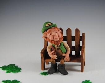 "Leprechaun/Polymer Leprechaun/Handmade Leprechaun/""Kennan the Leprechaun"""
