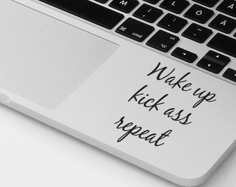 Macbook pro air sticker decal motivational quote laptop cover macbook cover palmrest sticker decal laptop sticker notebook decal sticker