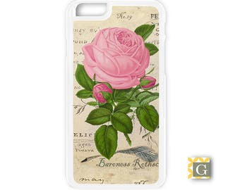 Galaxy S8 Case, S8 Plus Case, Galaxy S7 Case, Galaxy S7 Edge Case, Galaxy Note 5 Case, Galaxy S6 Case - Vintage Pink Flower