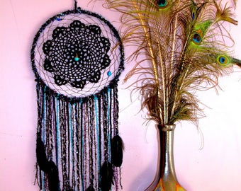 Extra Large Black Doily Dream Catcher
