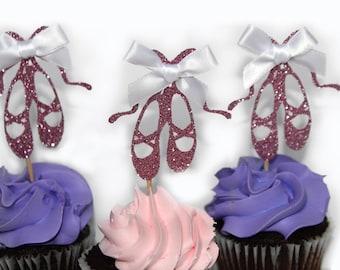 ballet flats, ballet shoes, ballet slippers, ballet cupcake topper, ballerina topper, ballerina party, ballerina baby shower,ballerina shoes