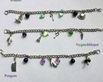 Riddler or Penguin Inspired Bracelets