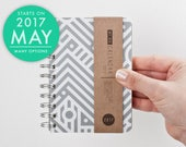 Weekly pocket planner 2017 May 2 May with high quality paper! Small Diary Calendar Kalender Day Journal Agenda with Maze design! June 2018