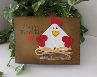 Happy Birthday Country Chicken Card