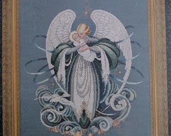 Lavender & Lace ~ Angel Of The Sea ~ Counted Cross Stitch Pattern Chart
