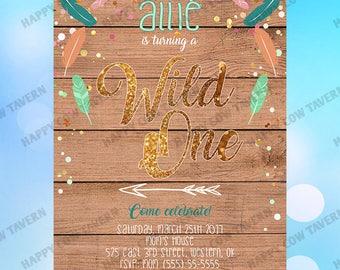 "Wild ""One"" Birthday Party Invitation"