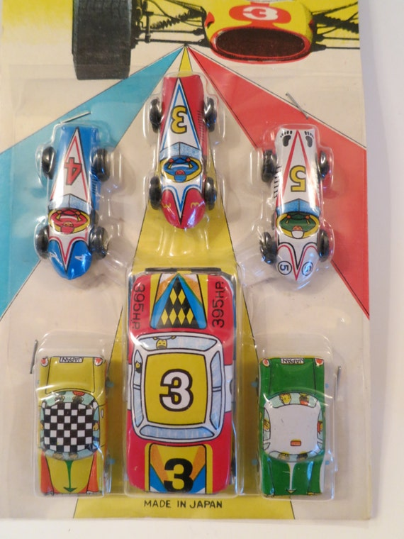 Assortment of Small Vintage Tin Cars