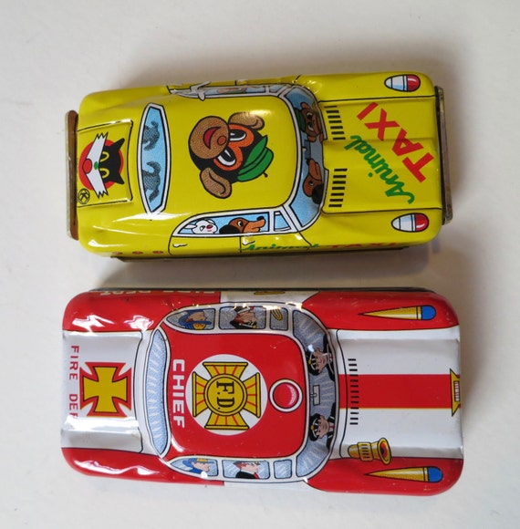 2 Vintage Japanese Friction Cars