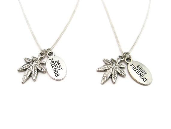 best buds necklace set pot leaf necklace necklace