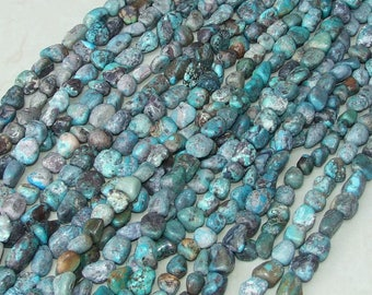 Genuine Natural Turquoise Nuggets. - Turquoise Beads - Real Turquoise - Turquoise Stones - 15mm - 20mm - 16 inch Strand - NT203