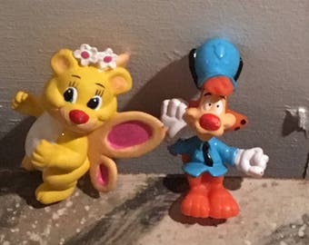 Vintage Wuzzle and Bonkers Figurines
