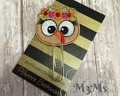 Turkey Girl Feltie Planner Bookmark, Flower Turkey Planner clip, Feltie Paperclip, Thanksgiving Feltie Bookmark, Fall Planner Accessories