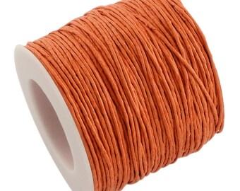 30ft Orange Wax Cotton Cord Bracelet Necklace Cord 1mm (No.161)