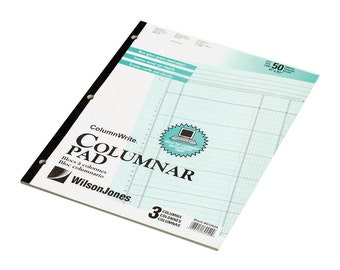 Columnar Pad 4 Columns. Accounting Tax Papers 4 Columns. 2 Pack Pads SALE