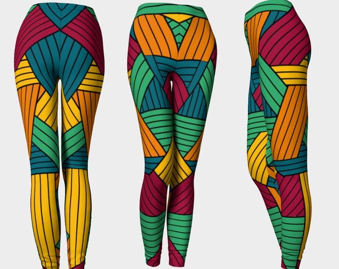 Abstract Pattern Leggings Yoga Pants