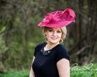 Hat Royal Ascot has ball Hat Kentucky-Derby horse racing has couture millinery Sinamay wedding Fascinator U13