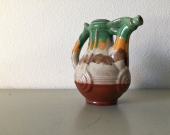 Vintage Ceramic Pitcher Art