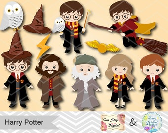 Instant Download Harry Potter Clipart, Digital Harry Potter Clip Art, Digital Harry Potter ClipArt, Harry Potter DIY Party Printables 0090