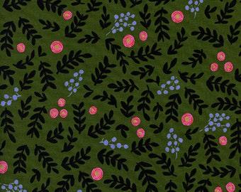 Wonderland - Rose Garden Moss Metallic - Rifle Paper Co - Cotton and Steel (8020-02)