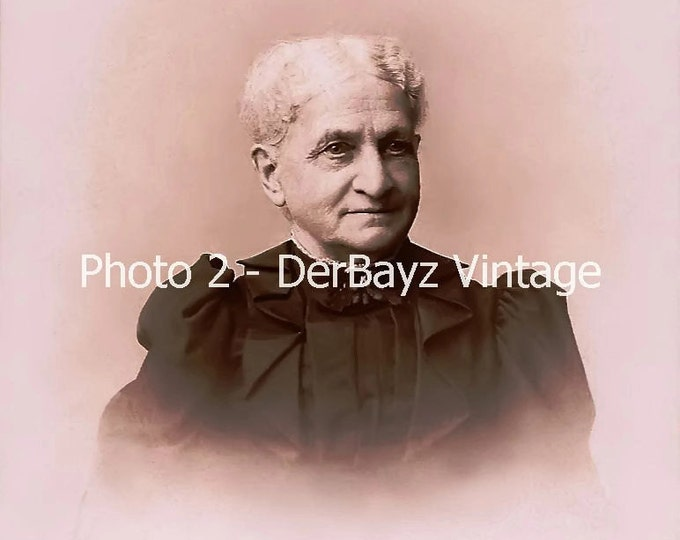 Digital Download Antique Cabinet Card: 3 Copies of Digitally Restored of Grandmother Cabinet Card