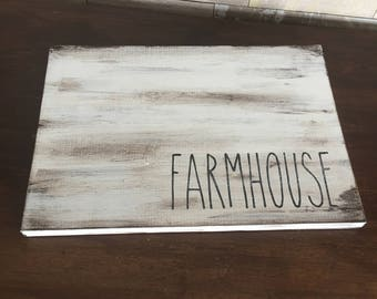 Farmhouse Distressed Serving Tray