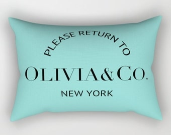 Breakfast at Tiffanys, Personalized Pillow, Aqua, Velvet, Pillow Cover, Cushion Cover, Teen Room Decor, Gift for Her, Best Friend GIft