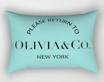 Custom Name Pillow, Breakfast at Tiffanys, Velvet Pillow Cover, Girls Room Decor, Turquoise, Dorm Pillows, Gift for Her, Best Friend GIft