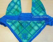 Royal Blue Green plaid - ...