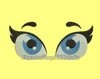 Cute Eyes Embroidery Design - 5 Sizes - INSTANT DOWNLOAD