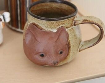 Vintage GEMPO Ceramic  Cat mug