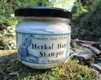 Herbal Hare, Original or Citrus,  large Shampoo, moisturising with Coconut & Walnut Oil, essential oils, vegan, paraben and sls free, uk