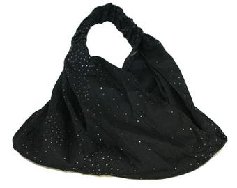 Wide Kerchief Band,Stretchable wide headband, Black Headband, White Headband, Kerchief Band, Shimmery Headband