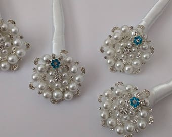 Beautiful Pearl Brooch and Button Boutonnière.