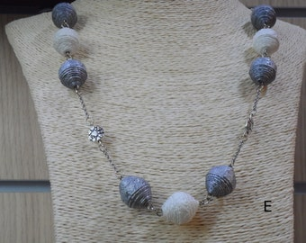 Pearl Necklace in handmade eco jewelry wallpaper by Gnègniru up-cycled jewellery made in italy