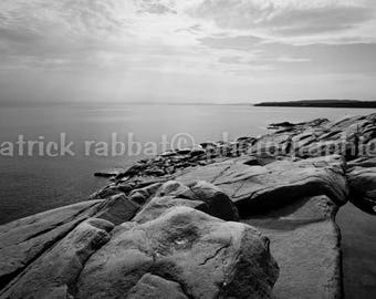 Serenity Fine Photo Art Photography Coastline View Saint Lawrence Charlevoix Region Photo Black and White Photography Serene Calming view