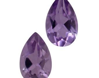 Pink Amethyst Pear Cut Set of 2 Loose Gemstones 1A Quality 8x5mm TGW 1.25 cts.