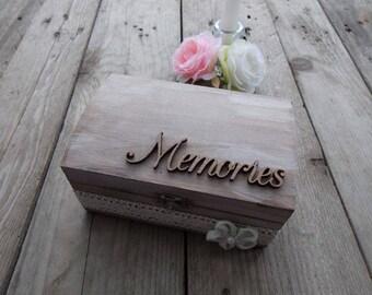 Wedding box  Flower - wedding decoration / wedding gift / wedding accessoires / memory box