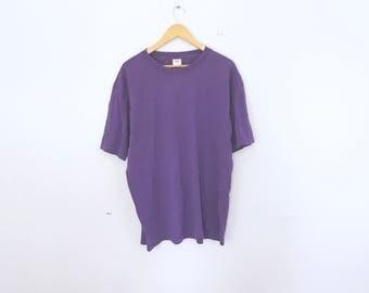80's purple basic t shirt size medium