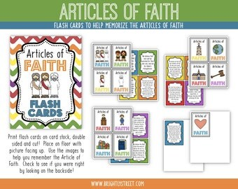 Articles of Faith Flash Cards