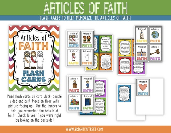 Flash card articles