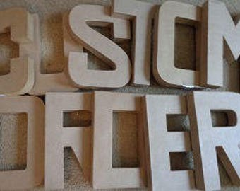 Personalized  You Paper Mache Letters: 12 in x 1.5 in, Spell out a Word, Make a Statement,Embellishment Letter,Cardboard lette