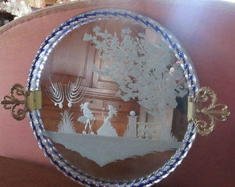 Glass tray in Murano vintage 1950/60