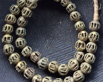 11mm - 12mm African Brass Beads, 39 counts