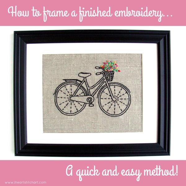 Frame a finished embroidery - quickly and easily