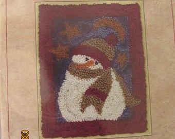 Midnight Snowman Punch Needle Kit