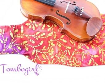 SALE ITEM :) Violin Cotton Cover for 4/4 - Australian made - Batik Dye Vines