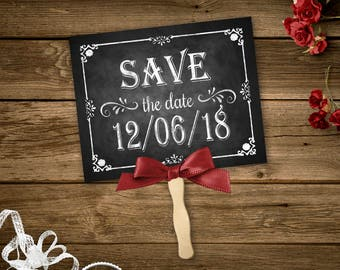 Personalized Save the Date Chalkboard Photo Prop, Photography Prop, Printable Prop, Printable Chalkboard, Engagement Announcement Prop