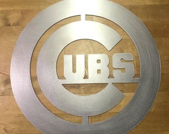 Chicago cubs Steel metal wall art
