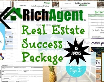 Everything Real Estate Success Package - 15 Forms | Realtor | Real Estate  Marketing | Open House | Real Estate Planner | Real Estate Agent