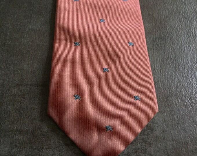 Vintage Estate AUTHENTIC Burberrys of London Mauve Blue Tie